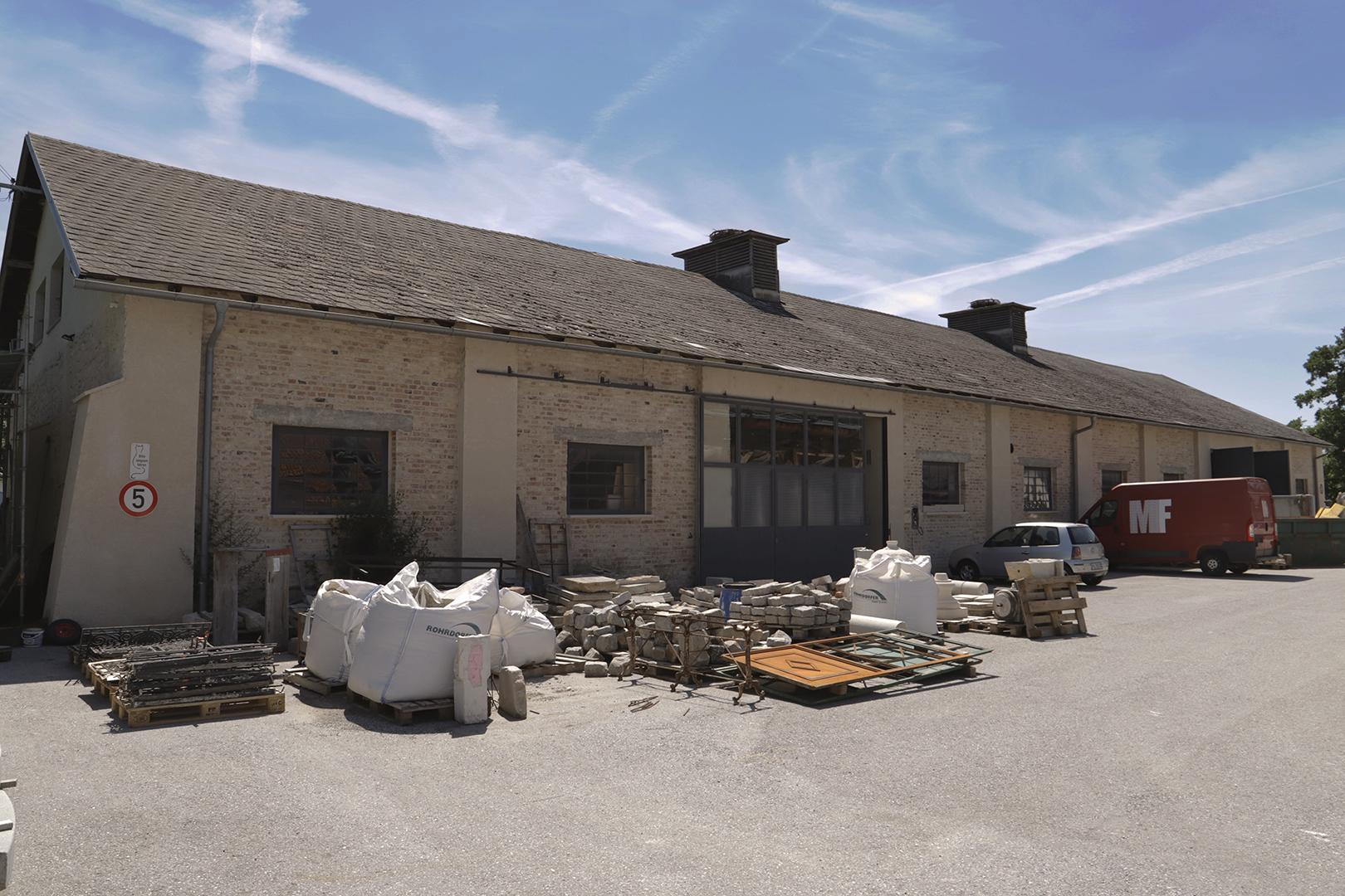 Lagerhalle für Werkstücke
